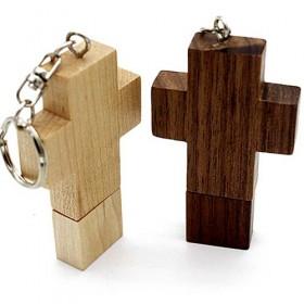 Clé USB Bois Croix Jésus