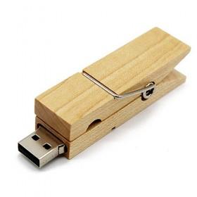 Clé USB Bois Pince à Linge