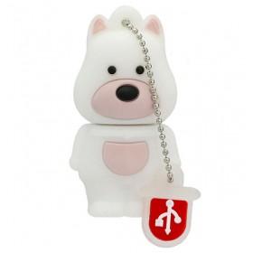 Clé USB Fun Chien Blanc